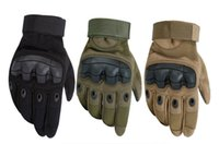 Wholesale boxing glove online - Military Tactical Rubber Gloves Hard Knuckle Full Finger Gloves For Outdoor Motorcycle Racing Airsoft Paintball Shooting Free DHL G695F