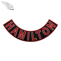 Wholesale patches for vests for sale - Red Devils HAMILTON Rocker Embroidery Patches Iron On Clothing For Rider Jacket Vest Custom Design