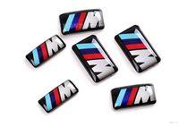 ingrosso autoadesivo delle ruote 3d-Car Vehicle Wheel Distintivo M Sport 3D Emblem Sticker Decalcomanie Logo Per bmw M Serie M1 M3 M5 M6 X1 X3 X5 X6 E34 E36 E6 Car Styling Adesivi