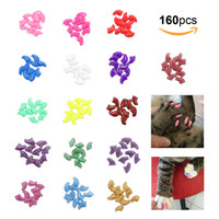 Wholesale cat tools - Pet Nail Caps Claws Protector Cover For Cat Pet Kitten Anti Scratch With Adhesive Glue PVC Material