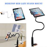 steht flexibler arm großhandel-Telefon Halterung Universal 360 Flexible Arm Tischständer Mount Faul Halter für Telefon iPad Tablet Handy-Zubehör und Teile