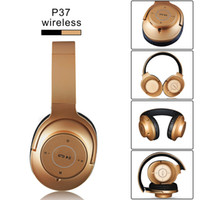 Wholesale playing music bluetooth headset resale online - Wireless Bluetooth Headphone Foldable Head mounted P37 Bluetooth Headset Stereo Headphone TF card Music Play For iPhone Xiaomi universal