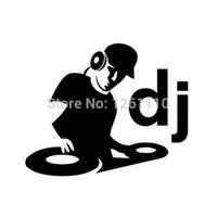 fenster grafik film großhandel-HotMeiNi Großhandel 20 teile / los DJ Vinyl Aufkleber Wand Fenster Auto Fenster Laptop Grafik Deck Musik Club Stoßstange