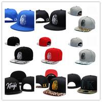 Wholesale lk leather - 2018 Hot Last Kings Leather Snapback hats white lastking LK Designer Brand mens women baseball caps hip-hop street caps Free Shipping