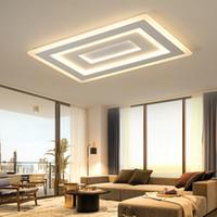 plafón rectangular moderno al por mayor-Lámparas de techo de montaje en superficie de superficie ultrafina Lámparas de techo Rectangular acrílico / lámparas de techo cuadradas
