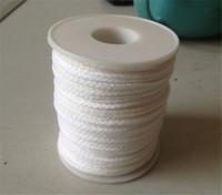bobines de coton achat en gros de-Bobine de coton bougie carrée tresse mèches noyau de mèche 61m x 2.5mm pour bougie faisant des fournitures
