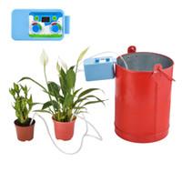 ingrosso giardino di piante interne-Kit di irrigazione goccia a goccia LED Micro regolatori automatici di irrigazione Impianti di irrigazione di timer per irrigazione per interni Garden Water Timer