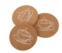 Wholesale Cushion Wood - Wholesale- Round Wood Coasters Cup Cushion Holder Non-slip heat-proof mat coffee drink Coasters Cup Mat,50pcs lot