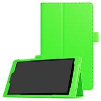 amazon folio großhandel-Ledertasche für Amazon Kindle Fire HD 8 2017 Version Tablet Klappdeckel mit Ständer für Kindle Fire 8 Zoll 2016 + Stylus