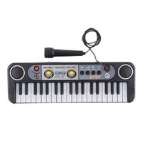 Wholesale mini piano toys for sale - Mini Electronic piano Multifunctional Keys Electone Keyboard Musical Toys with Microphone Educational Toys for Children Beginners DHL