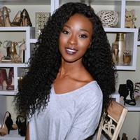 Wholesale black weave curly hairstyles for sale - Group buy Virgin Malaysian Curly Human Hair Weave Wig Glueless Front Lace Human Hair Wigs Baby Hair Full Lace Wigs For Black Women