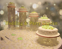 Wholesale Crystal Cake Stand Set - wedding crystal transparent acrylic Cake Stand wedding centerpiece Cake bracket Cake Accessory Crystal Party Crystal birthday decoration