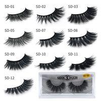 3D Mink Eyelashes Wholesale Natural False Eyelashes Soft make up Eyelashes Extension Makeup Fake Eye Lashes Pack 3D Mink Lashes Bulk