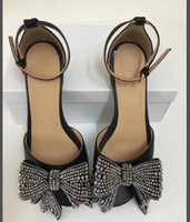 Wholesale sexy bling shoes - Newest Classic Butterfly Angel Wing Party Dress Sandals Sequined Bling diamond Sexy High Heels Shoes Metallic Thin Heels Pumps Shoes
