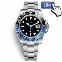 Wholesale sport watches for sale - New Master Ceramic Bezel Mens Watches Glide Lock Clasp Strap Automatic Blue Black Watch Sports Crown Watch Wristwatch Orologio Reloj