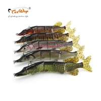 Wholesale Big Crankbait - Teeway 1Pcs 26cm 108g Fishing Lures 4 Segments Swimbait Crankbait Fishing Lure Hard Bait with Artificial Hooks Fishing Wobblers
