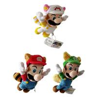 fliegen plüsch großhandel-Hohe Qualität 100% Baumwolle 8,5 Zoll 22 cm Super Mario Bros Fly Mario und Luigi Plüschtier für Kinder Urlaub Geschenke