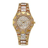 наручные часы japan movt оптовых-Sun Womens Watches Top Brand Japan Movt Кварцевые Часы Женские Алмазные Солнечные Золотые Часы Xfcs Модные Женские Наручные Часы