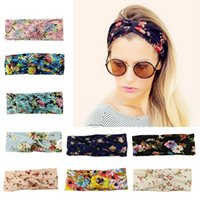 Wholesale flower girls hair styles - 9colors Hairbands Girls Floral Headband 9 Styles Cross Headband Princess Bowknot Flower Headwear Hair Band Accessories Best Gifts MMA283