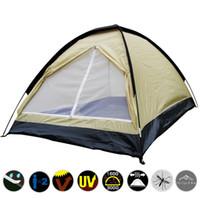 Wholesale fiberglass rods - Casual Camping Tabernacle Anti Tearing Rainproof Windproof Tent Fiberglass Rod Double Manual Build Tents Factory Direct Sale 40za B