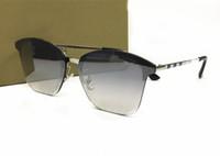Wholesale elegant polarized sunglasses - Luxury Brand Plaid Marking Sunglasses Large Frame Elegant Special Design Women Eyeglasses Outdoor Shade Eyewear Come With Box