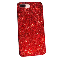 iphone mais ouro venda por atacado-Ouro bling pó bling siliver phone case para iphone x 8 7 6 6 s 5 5S Mais Celular Bulk Sparkle Rhinestone Cristal Móvel Gel Tampa
