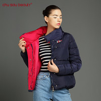 Wholesale parka crystal - ChuSaubeauty women Fashion Clothing Women Cultivate Morality Warm Plus Size Winter Jacket And Coats Cotton Parkas Crystal buckle