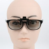Wholesale Making 3d Movies - 3D Clip On Glasses Myopia Make Eyes See 3D Effect Movie Passive TV with Glasses Box High Quality