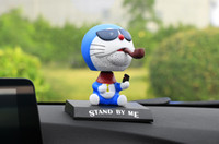 Wholesale anime doraemon - Car Ornaments Cute Anime For Doraemon Head Shaking Toy Model Automobile Interior Dashboard Decoration PVC Doll Auto Accessories