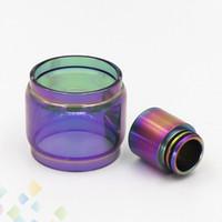 ponta do gotejamento venda por atacado-Rainbow cor estendida pirex tubos de vidro e arco de metal kit ponta de gotejamento para TFV8 TFV12 Valyrian Troll TFV12 Príncipe tanque DHL livre