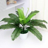 kapalı plastik bitkiler toptan satış-Yapay Ipek Yeşillik Bitki Simulaton Plastik Büyük Boston Fern Ofis Ev Kapalı Bahçe Dekorasyon Için 40 cm