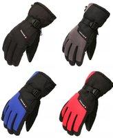 golf eldivenleri kış toptan satış-Kış Açık Eldiven Kayak Snowboard Kürek Eldiven Su Geçirmez Rüzgar Geçirmez Kar Kayak Eldiven Erkekler Kadınlar için Bilek Tasmalar Ile H905R
