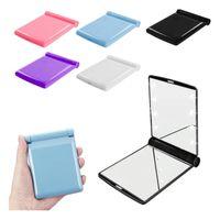 Desktop Portable 8 LED Light Mirror Compact lights Lighted Travel Make up Mirror