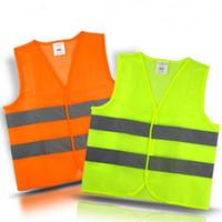 orange sicherheitswesten großhandel-Arbeits-Sicherheits-Bau-Weste der hohen Sicht-Arbeit Warnende reflektierende Verkehrsfunktionsweste Grüne reflektierende Sicherheits-Verkehrsweste