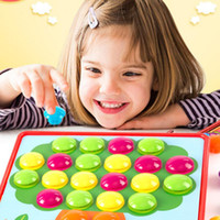 Wholesale art kits for kids for sale - Group buy 3D Puzzles Toys for Children Creative Mosaic Mushroom Nail Kit Buttons Art Assembling Kids Enlightenment Educational Toys Mosaic