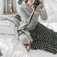 ingrosso scialle di cotone bianco nero-Nuova coperta in morbido tessuto di cotone lavorato a maglia di colore bianco e nero, trapunta da camera climatizzata, scialle per riposo da ufficio