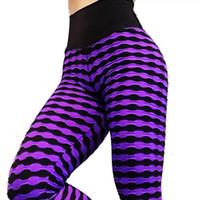 listras de zebra magras venda por atacado-Zebra Stripes Impresso Calças de Yoga Mulheres Push Up Quadris Leggins Esporte Mulheres Aptidão Calças Slim Ginásio Roupas Leggings Correndo Calças