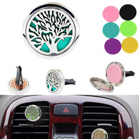 Wholesale Aromatherapy Home Essential Oil Diffuser For Car Air Freshener Perfume Bottle Locket Clip with Washable Felt Pads