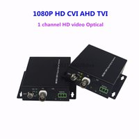 Wholesale Video Optical Converter - 1080P HD video AHD CVI TVI Fiber optical converter, 1-CH video fiber optic transmitter, single-mode single 20KM