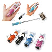 Wholesale stands for camera for sale - Extendable Telescopic Selfie Stick Monopod For Camera Mobile Phone Holder Stand with Retail Box High Quality