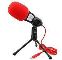 msn pc venda por atacado-NOVO Profissional Microfone Condensador De Som Podcast Estúdio Para PC Portátil Skype MSN Microfone LLFA