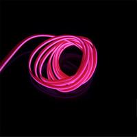 neonblaue glühbirnen großhandel-AUTO 2 meter 12 V EL Draht kaltlicht lampe Neon Lampe Auto Atmosphäre Lichter Einzigartige Decor Innenleuchte LED lampen auto styling
