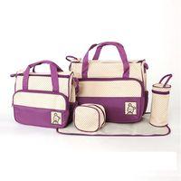 Wholesale mummy set online - Diaper bag mummy bag baby diaper bag nursery bags Mum Hand Bags Pieces Set Colors