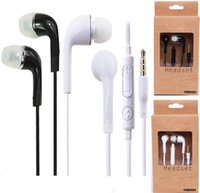 Wholesale s3 gold - Mic and volume control Stereo Headsets In Ear Earphone Earbuds Headphones for Samsung note3 N7100 i9300 i9600 S5 S4 S3 with box by DHL