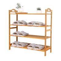 ingrosso multi rack di scarpe-Multi piano Home Furniture Shoe Cabinet Bamboo ad alta capacità Minimalismo in legno massello Originalità Holder Organizer Scarpe Rack Shelf 56qw5 jj