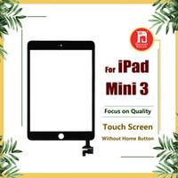 mini touchscreen venda por atacado-Para ipad mini 3 substituição de vidro digitador da tela frontal com IC conjunto completo adesivo sem botão home touchscreen painel de toque