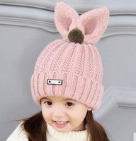 Wholesale Price Wool - new 2018 pink winter girls child hats discounts price shipping free
