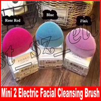 Wholesale face vibrating massager - Mini 2 Electric Facial Cleansing Brush Silicone Cleanser Vibrate Massage Machine Pore Clean Makeup Brush Face Skin Care Spa Massager