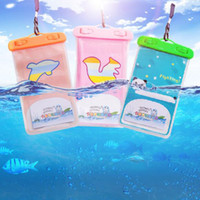 Wholesale Mobile Phone Pouches Cartoon - Waterproof Sports Bag Cartoon Swimming Touchable Mobile Phone Bags Drifting Diving Pack Underwater Dry Phone Pocket