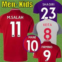 Wholesale kids football uniforms set - Top thailand Mohamed SALAH soccer Jersey 2019 VAN DIJK VIRGIL KEITA SHAQIRI Football kit Shirt FIRMINO liverpooling 18 19 Kids set uniforms